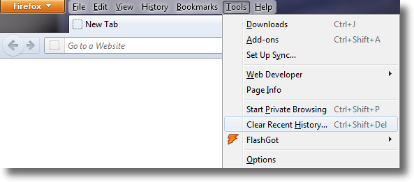 clearing the cache in mozilla firefox global network services ltd