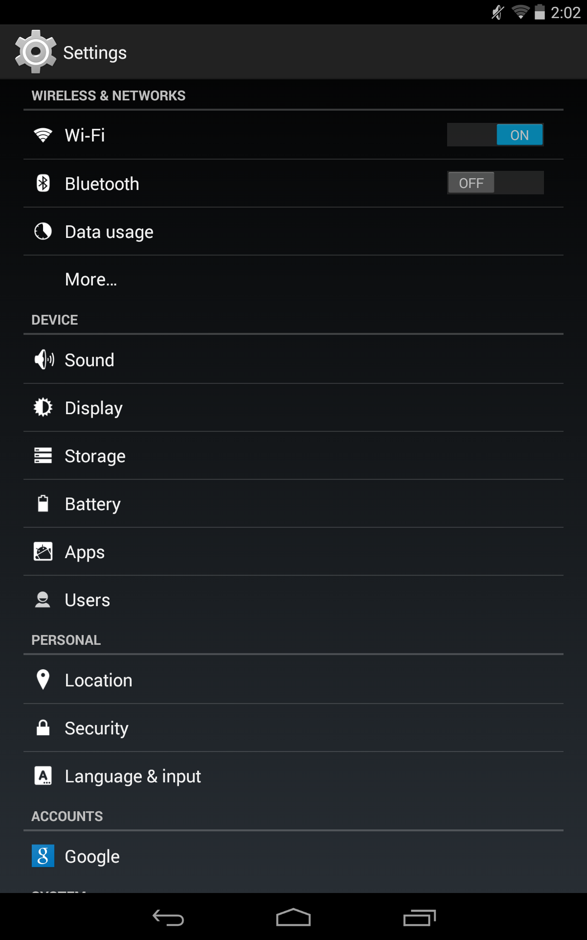 Android settings select wifi
