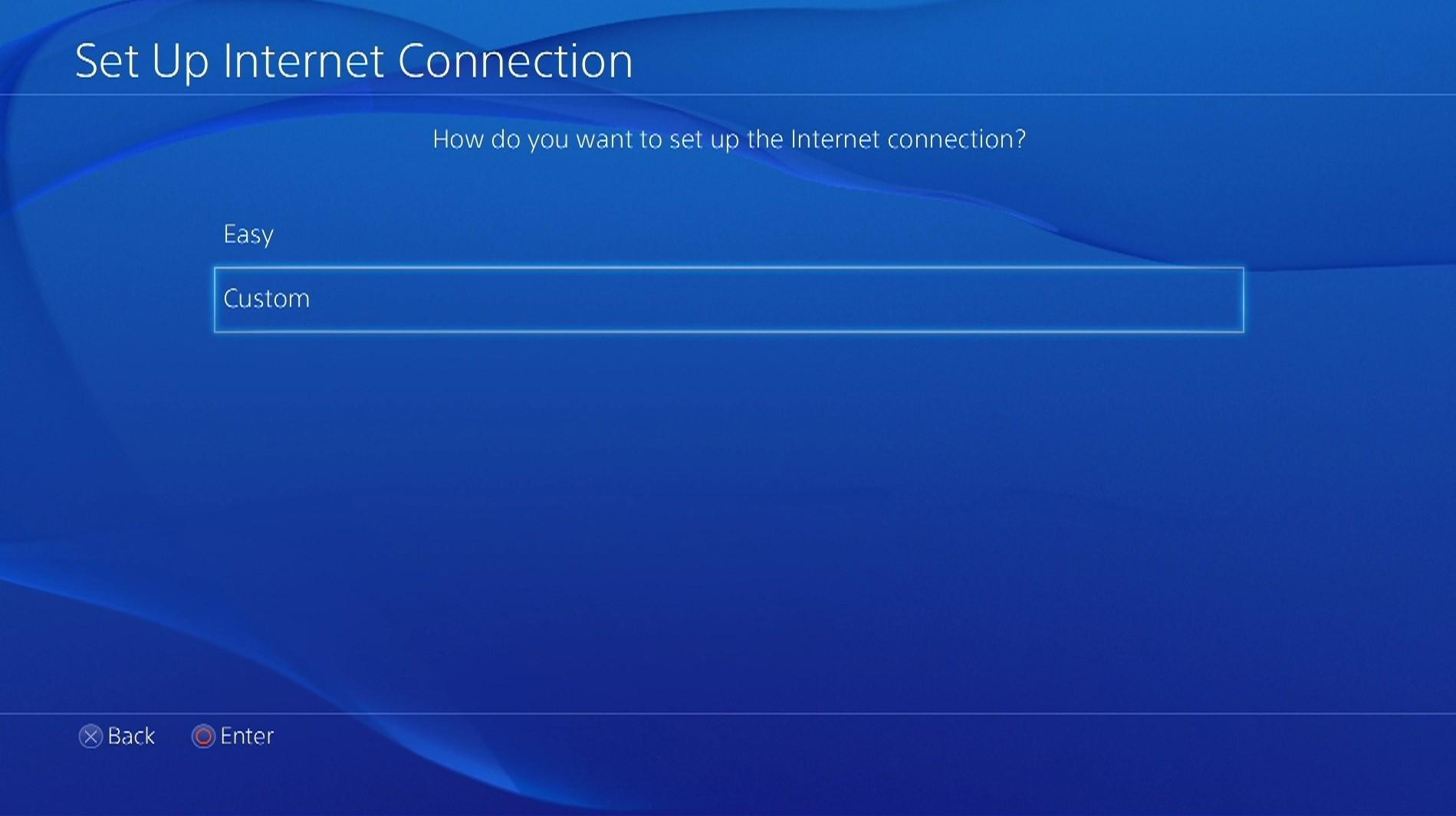 ps4 custom connection menu