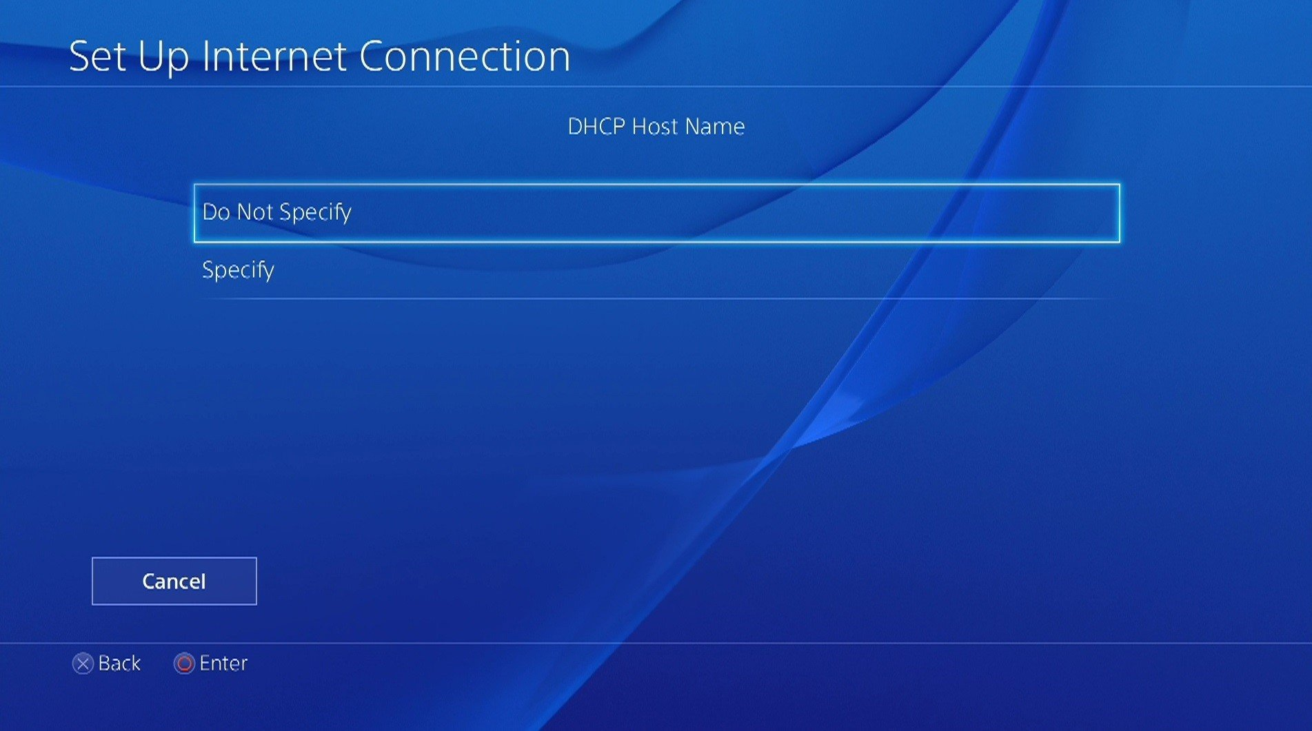 how to make ps4 dhcp