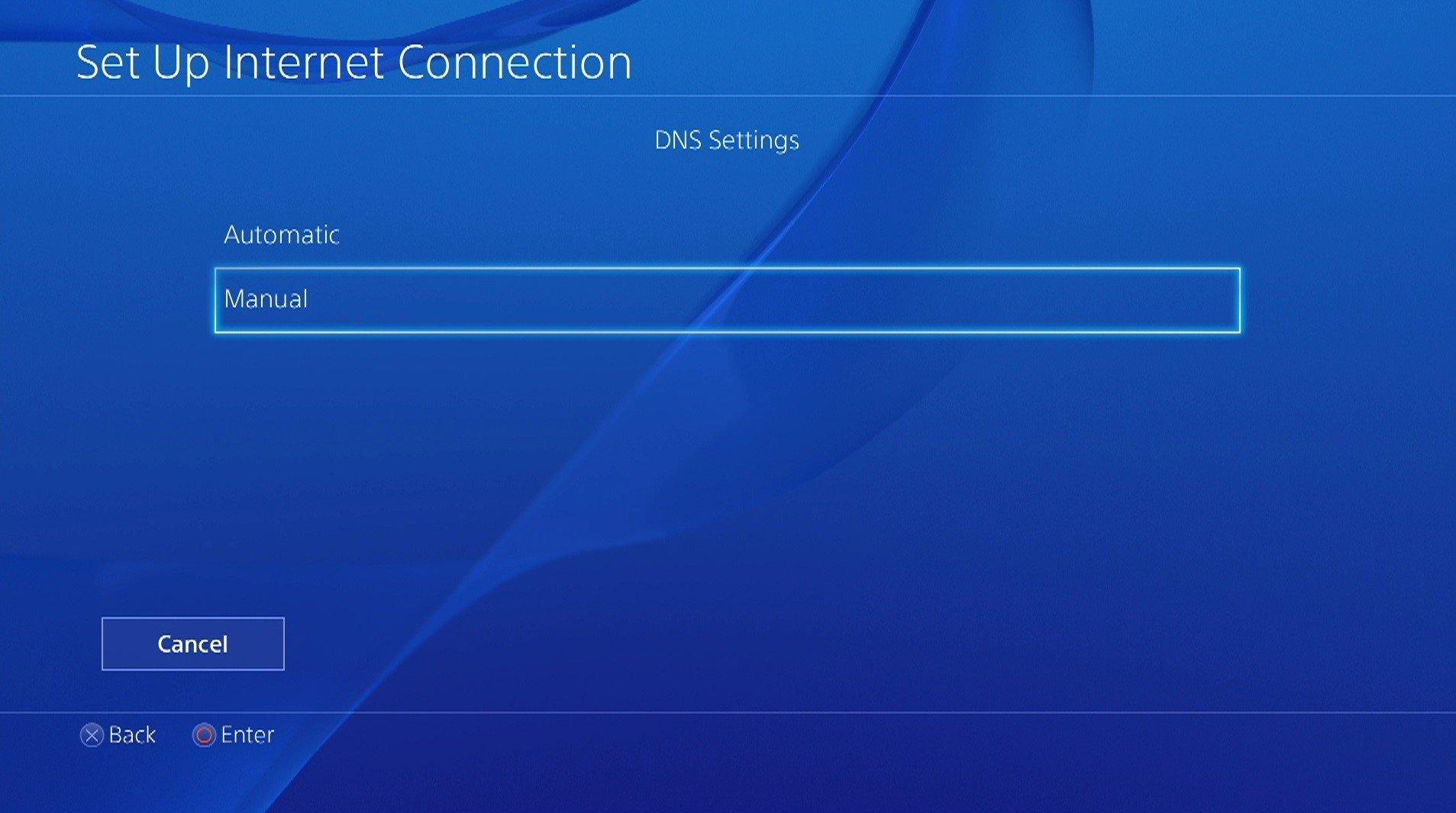 ps4 dns settings menu