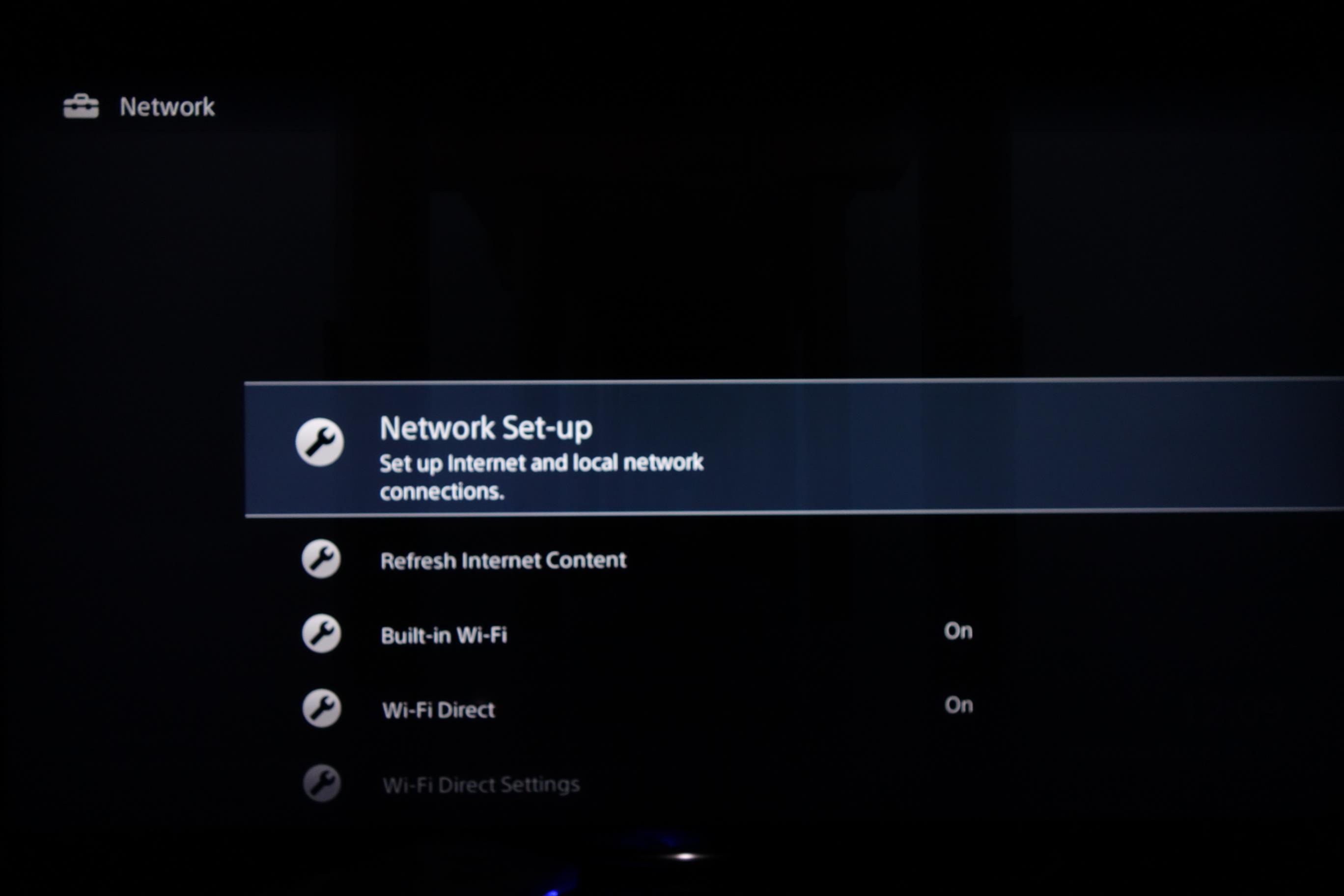 Sony Bravia Network setup