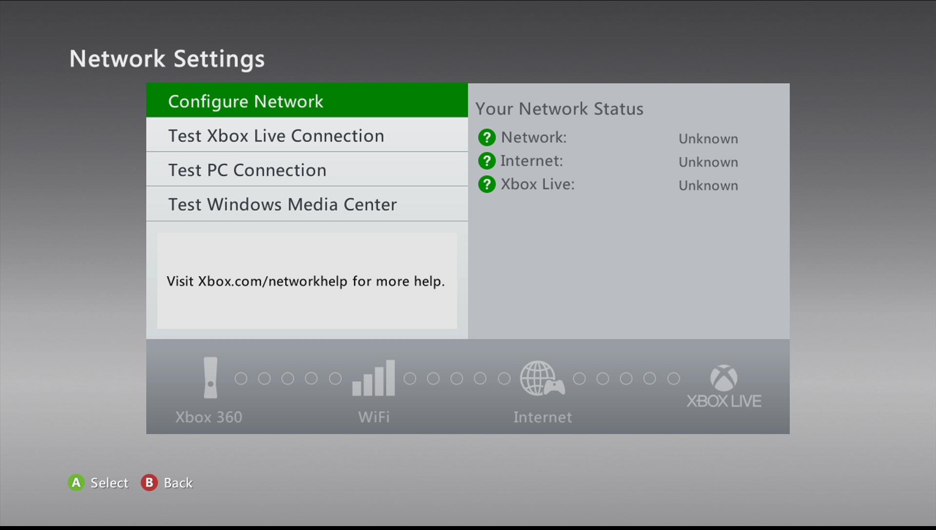 xbox 360 configure network