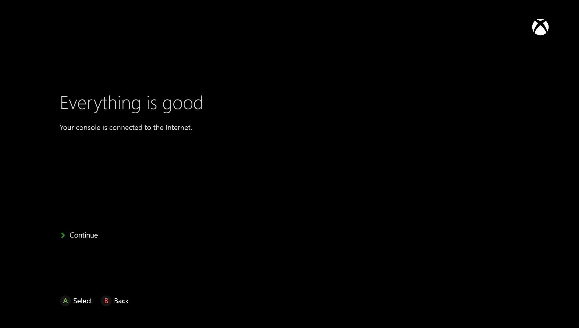 Microsoft Xbox One Connection Status
