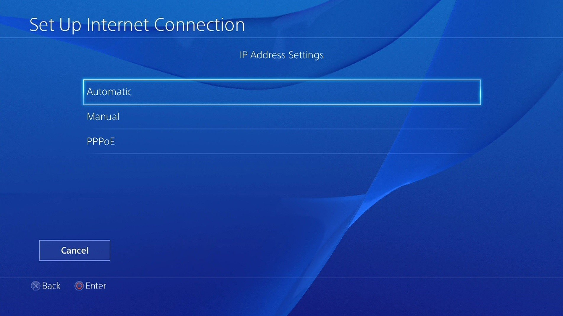 ps4 ip settings menu