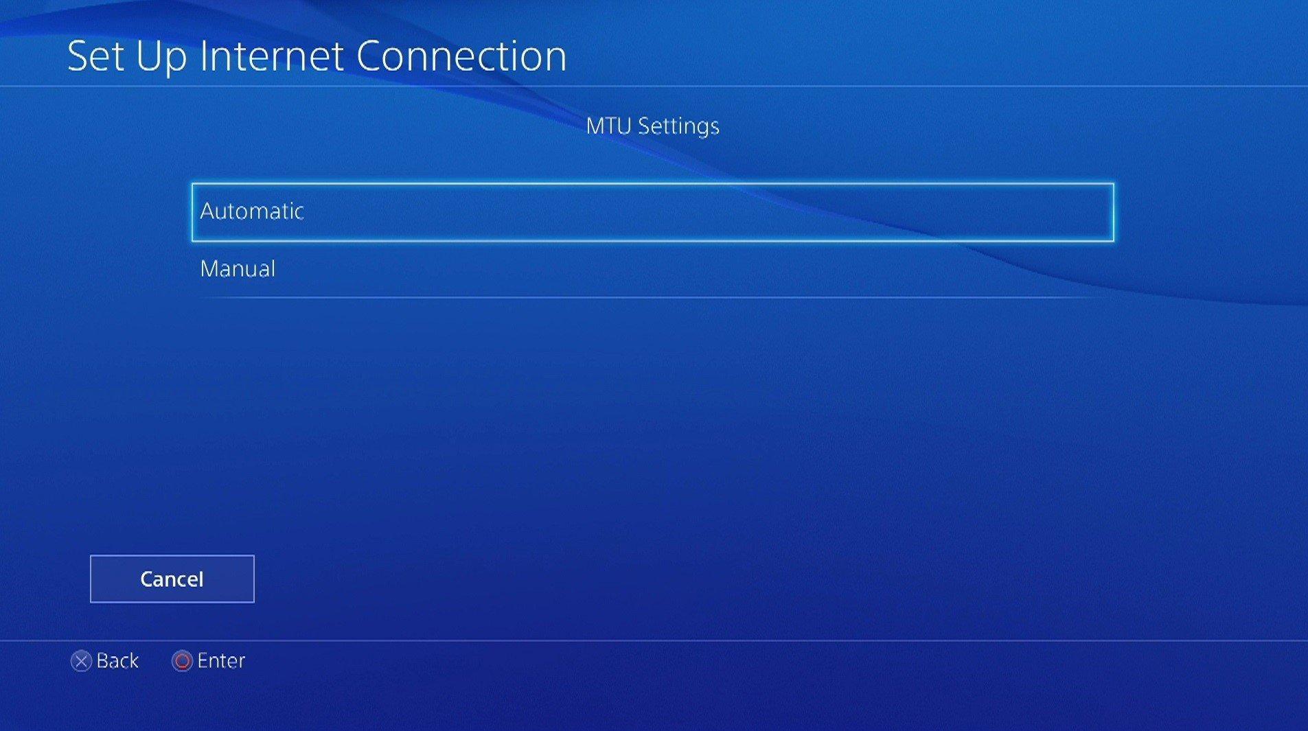 ps4 mtu settings menu