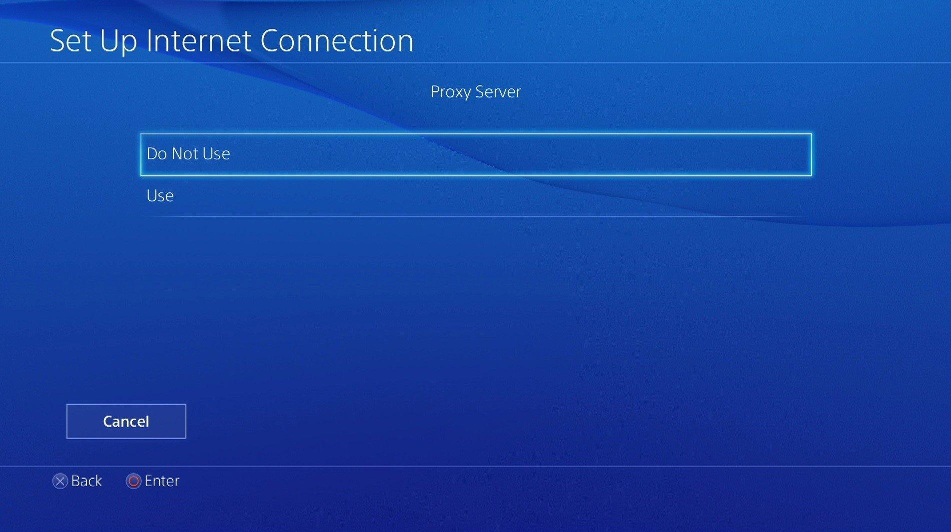ps4 proxy server settings