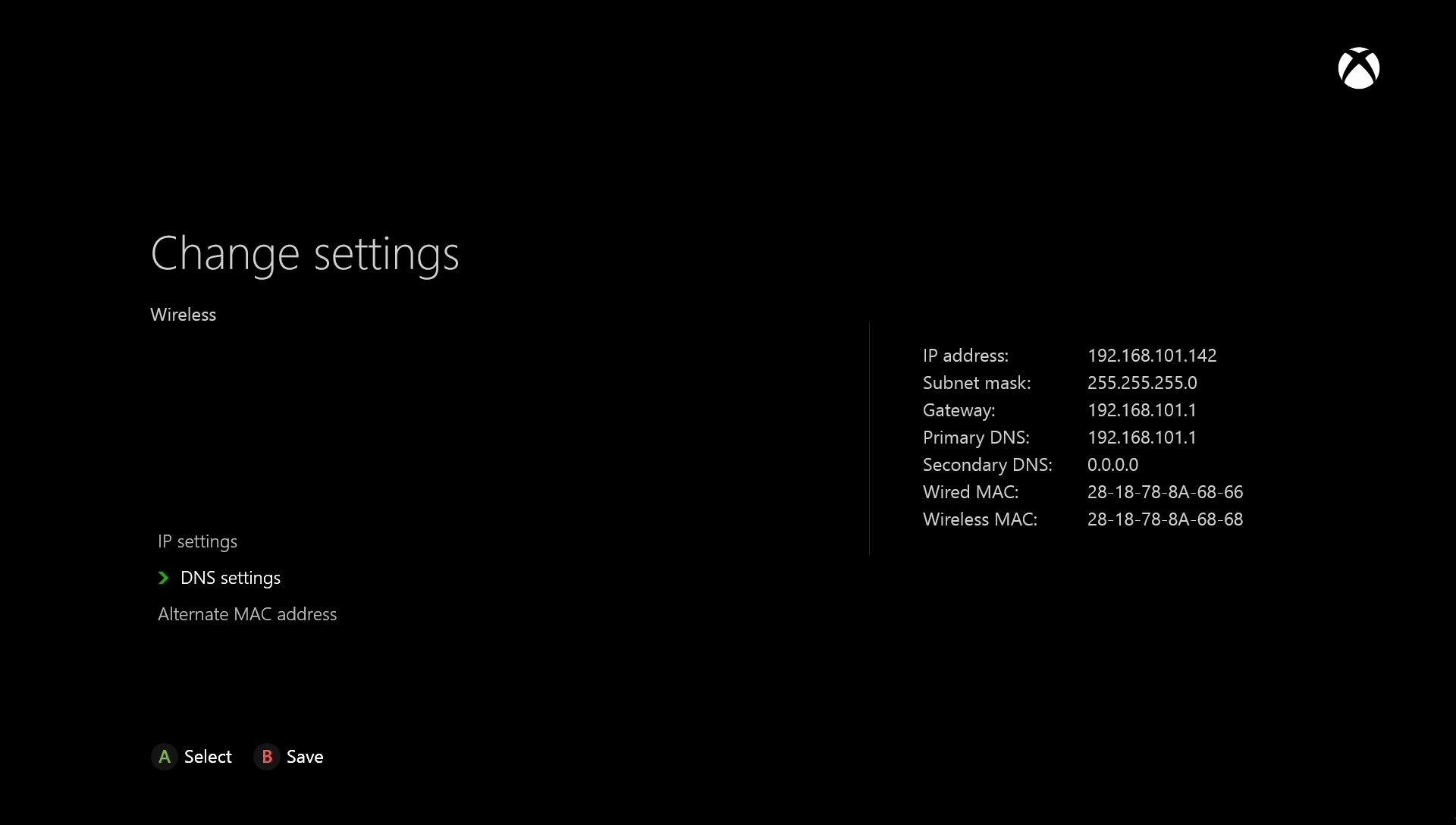 Microsoft Xbox One Change DNS Settings