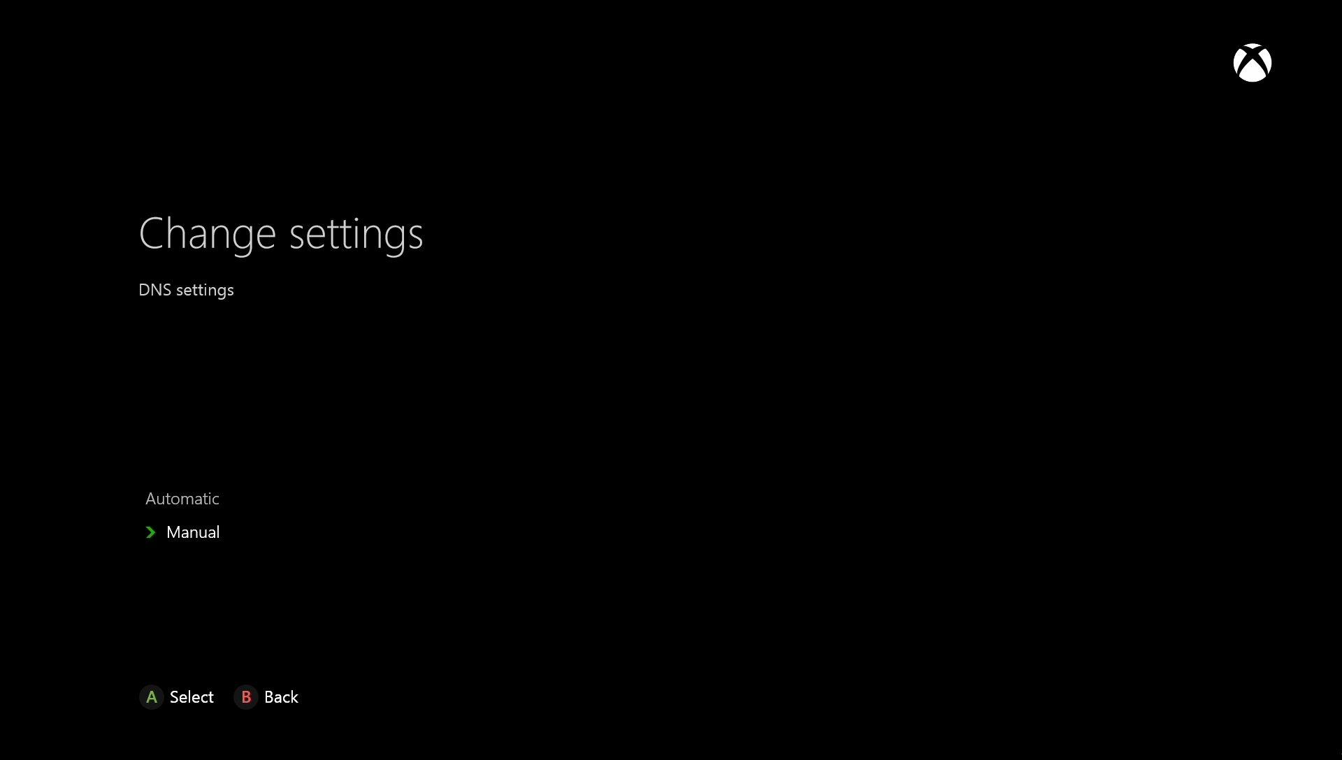 Microsoft Xbox One Manual Settings
