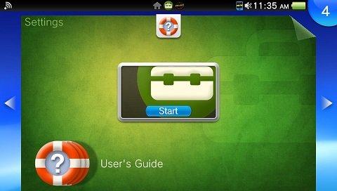 PS Vita home settings