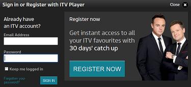 itv register now
