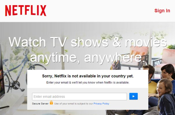 Sorry Netflix is not available in your country yet fix