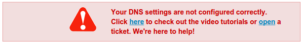 DNS not set up properly